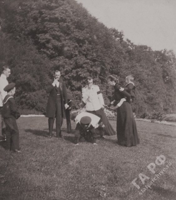 Nicholas II and his family with relatives in Germany. Amateur photos from the album of the Romanov family 1899-1900.