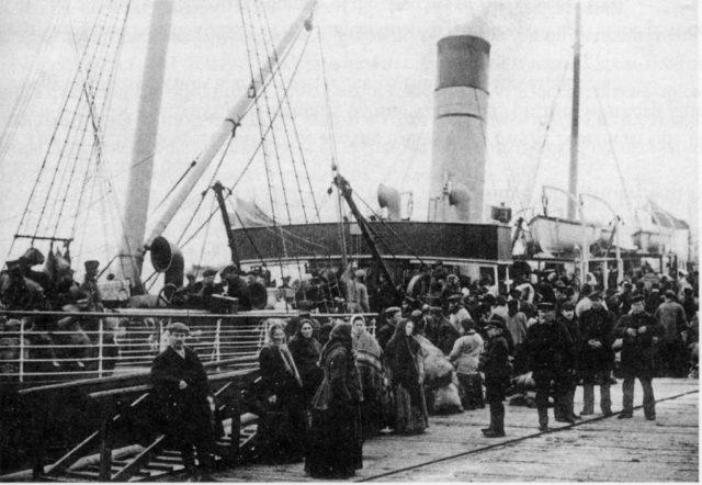 Steamboat at Northern Dvina Embarkment. Arkhangelsk (Archangel)