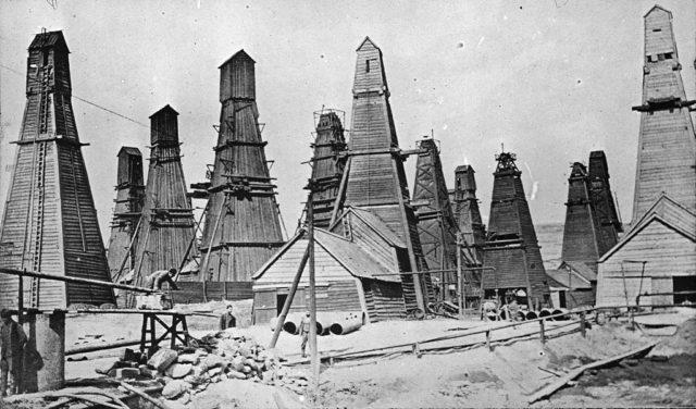 Oil field in Baku