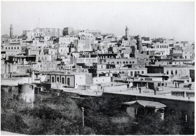 Old Baku. View of Muslim Quarters.