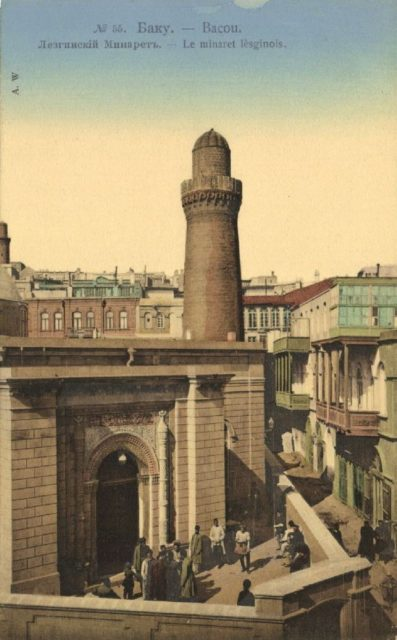 Old Baku. The Lezghin Minaret.