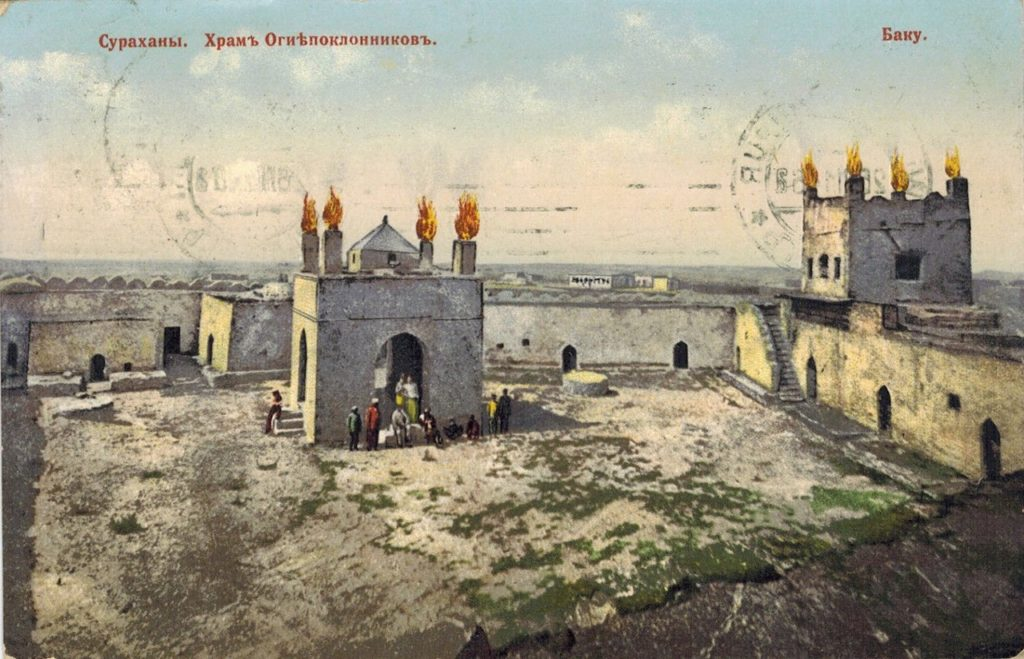Old Baku. Surahani. Temple of Fire worshipers.