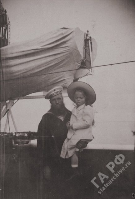 On a yacht Standard 1899-1900. Amateur photos from the album of the royal family of Nicholas II.