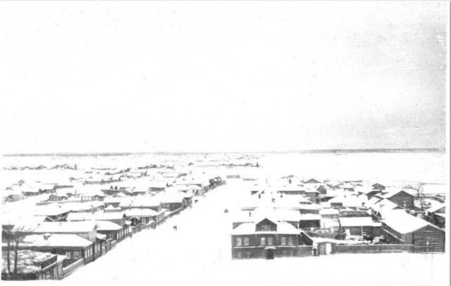 Pinega in winter, Arkhangelsk region, Russia