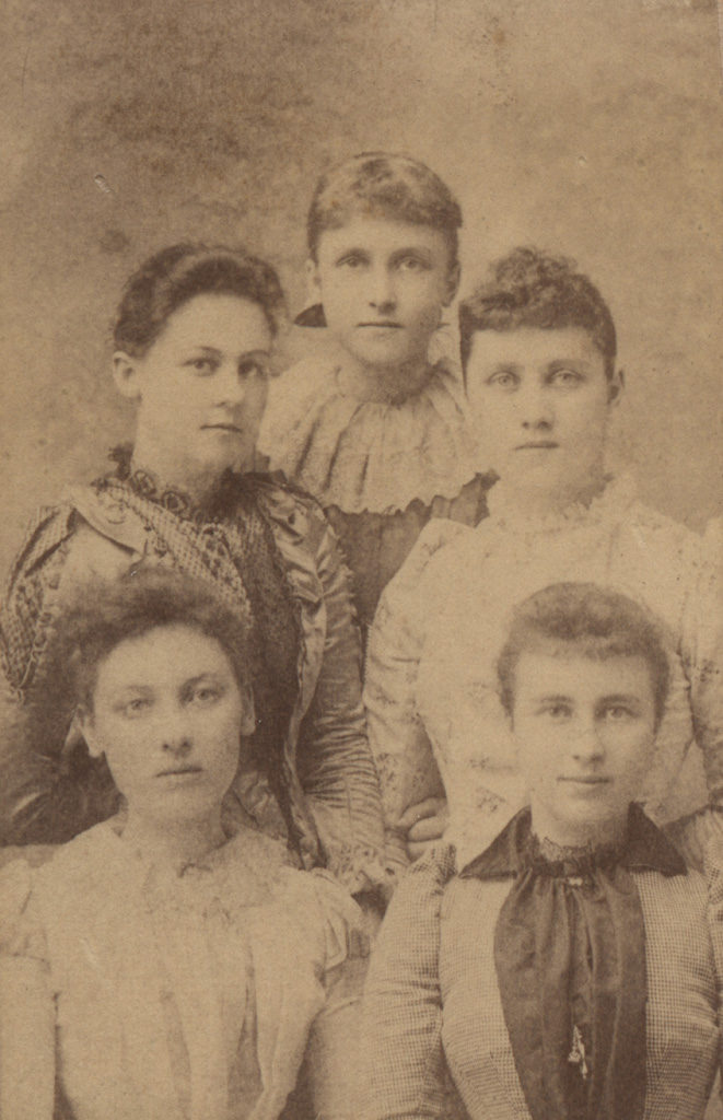 Portrait of five young women, date unknown