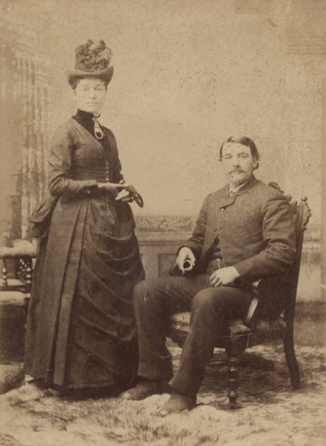 Portrait of man and woman, date unknown