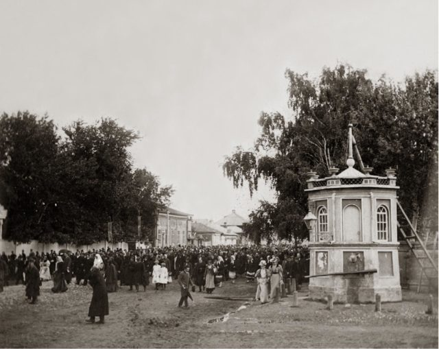 Religious procession. Moscow in Murom. 1890s