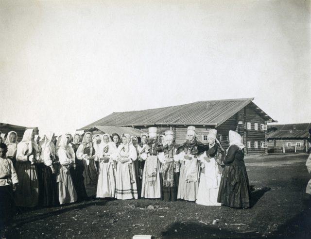 Residents of Pinega, Arkhangelsk region, Russia