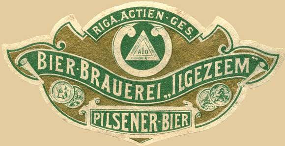 Riga. Russian beer label - 1900