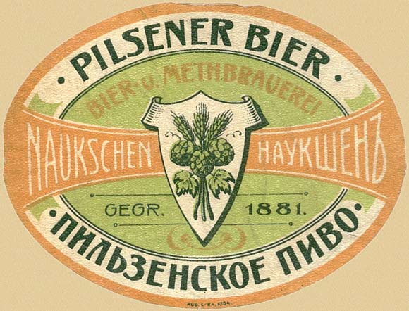 Russian beer label - 1900