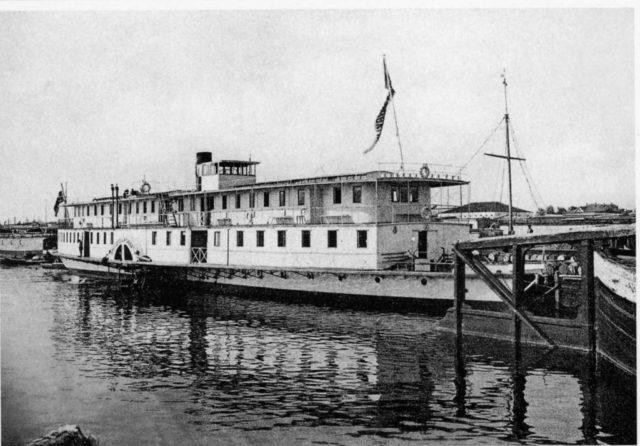 Passenger Steamboat. Northern Dvina Embarkment. Arkhangelsk (Archangel)