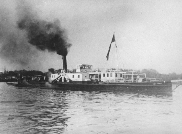 Steamer on the Baku sea route