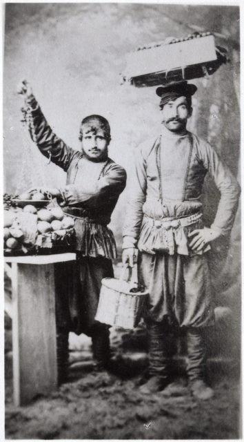 Street vendors, Baku