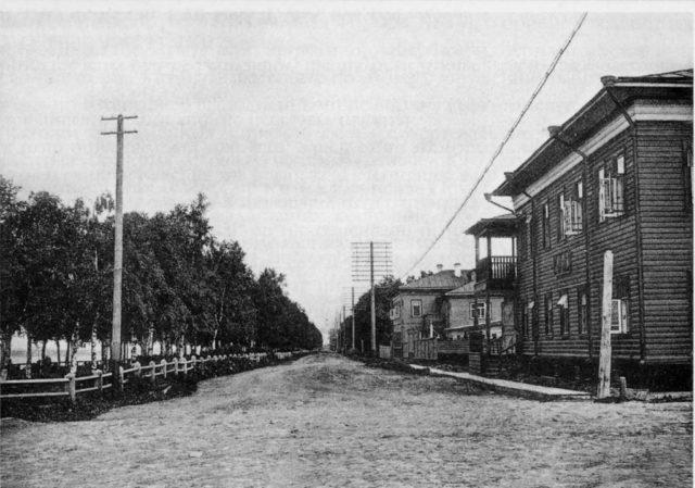 Streets of Arkhangelsk (Archangel), 1870-1900