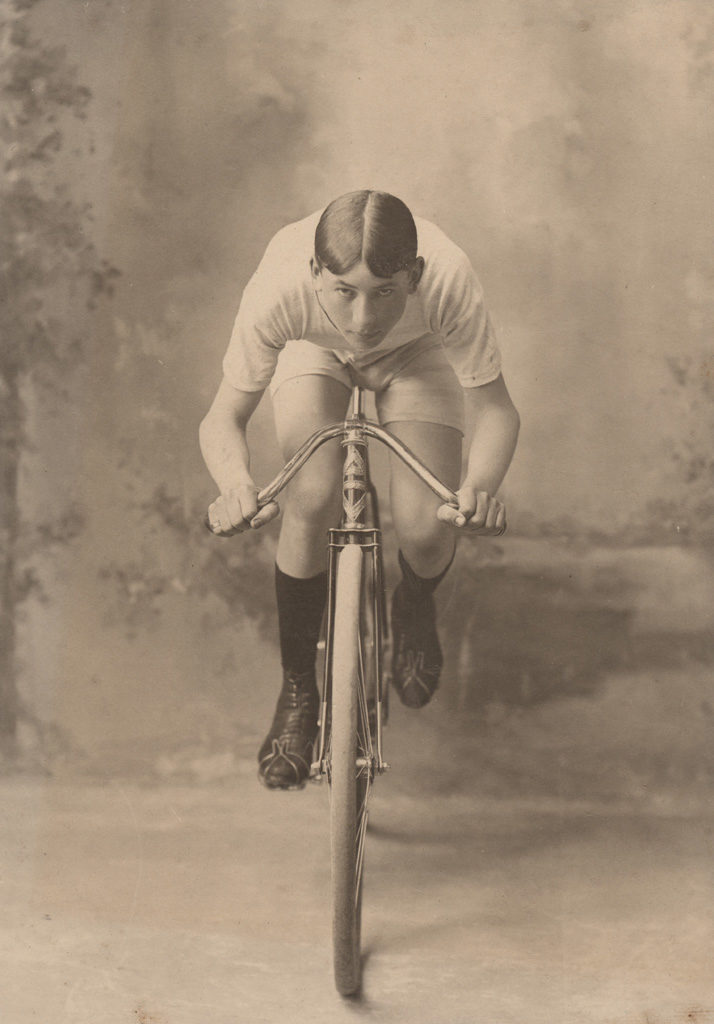 The biker, date unknown