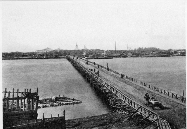 The bridge in Solombala, Arkhangelsk (Archangel)