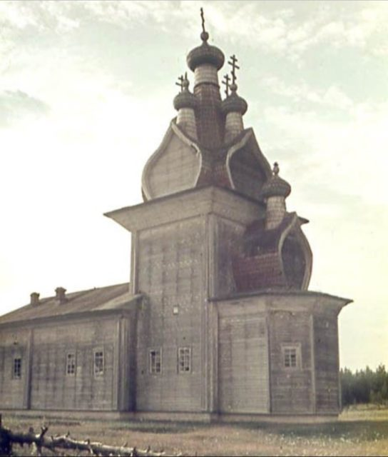 The Resurrection Church in Kevrol. Pinega, Arkhangelsk region, Russia