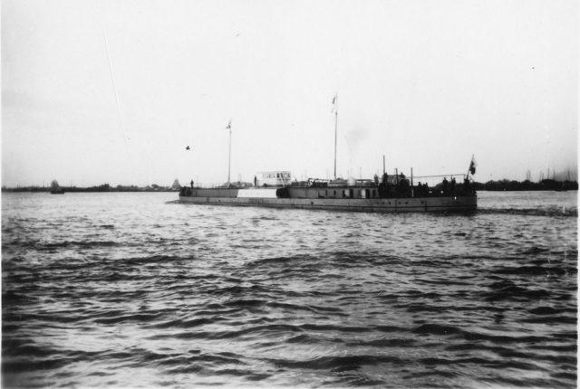 The steamer on the roadstead of Baku.