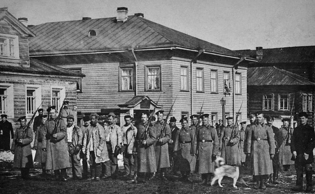 The transfer of exiles. 1915 - Pinega, Arkhangelsk region, Russia