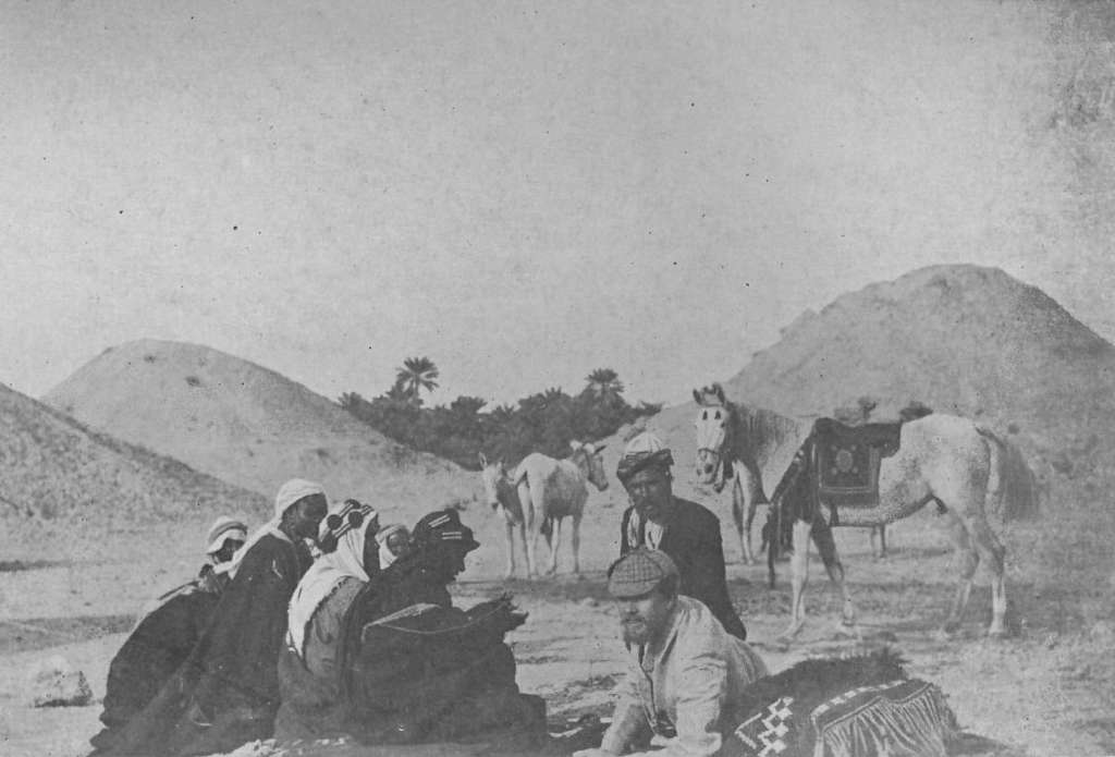 Theodore Bent Receiving Visitors at The Mounds, Bahrein