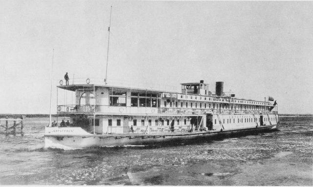 Tsargrad Steamer on the Baku sea route