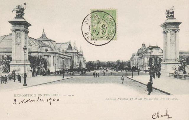 UNIVERSAL EXHIBITION 1900 - Avenue Nicolas II and the Palais des Beaux-Arts - 1900