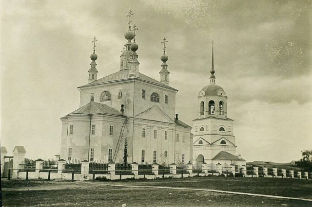 Cathedral of Verkolsky Monastery, Pinega, Arkhangelsk region, Russia