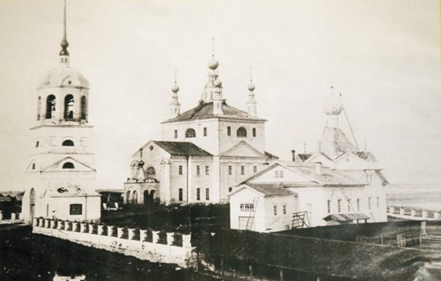 Churches of Verkolsky Monastery, Pinega, Arkhangelsk region, Russia