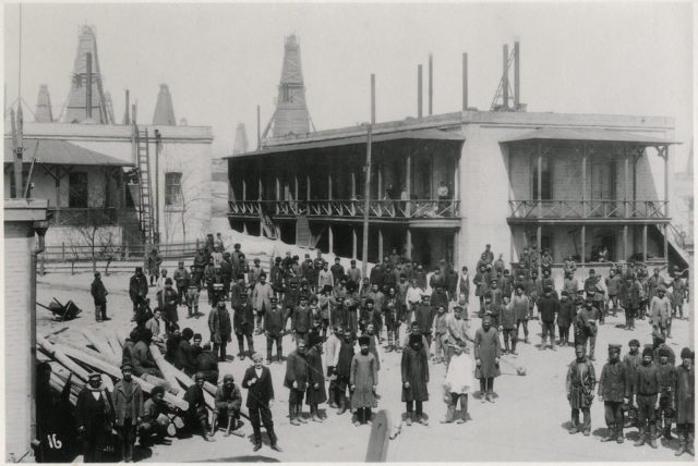 Workers of the oil industry. Baku