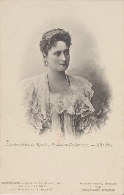 Empress of Russia Alexandra Feodorovna, portrait, 1901