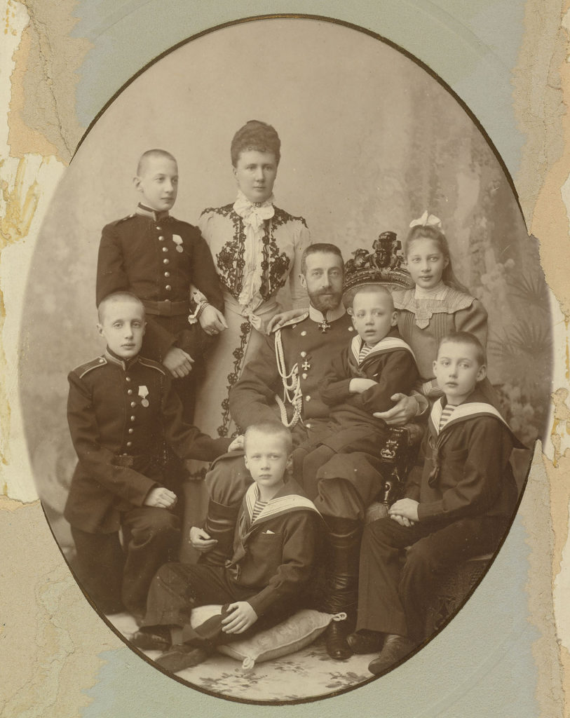 Grand Duke Constantine Romanov with Wife and Children