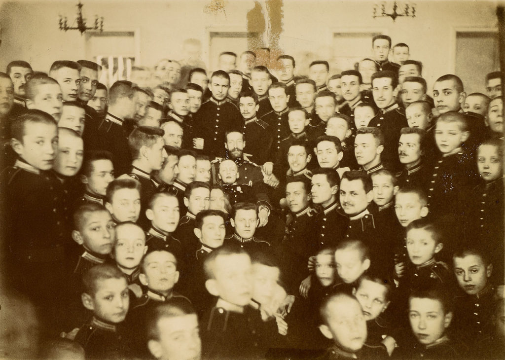 Grand Duke Konstantin Konstantinovich in the first Moscow Cadet Corps.