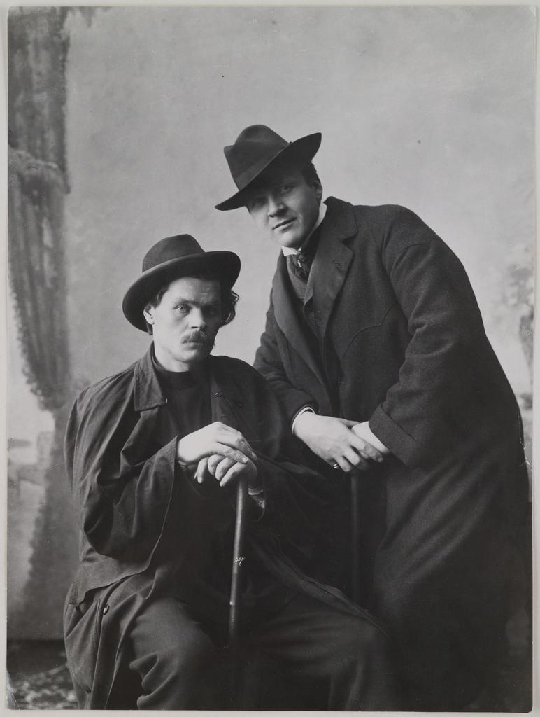 Maxim Gorki with F. I. Chaliapin, 1901.