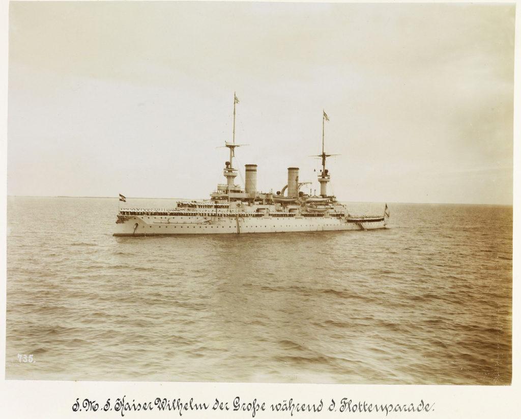 Prussia. Pillau - Danzig. September 12, 1901. Maneuvers and parade Kaiserlichmarine. Guest - Nicholas II.
