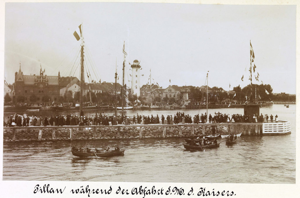 Prussia. Pillau - Danzig. September 12, 1901. Maneuvers and parade Kaiserlichmarine. Guest - Nicholas II.