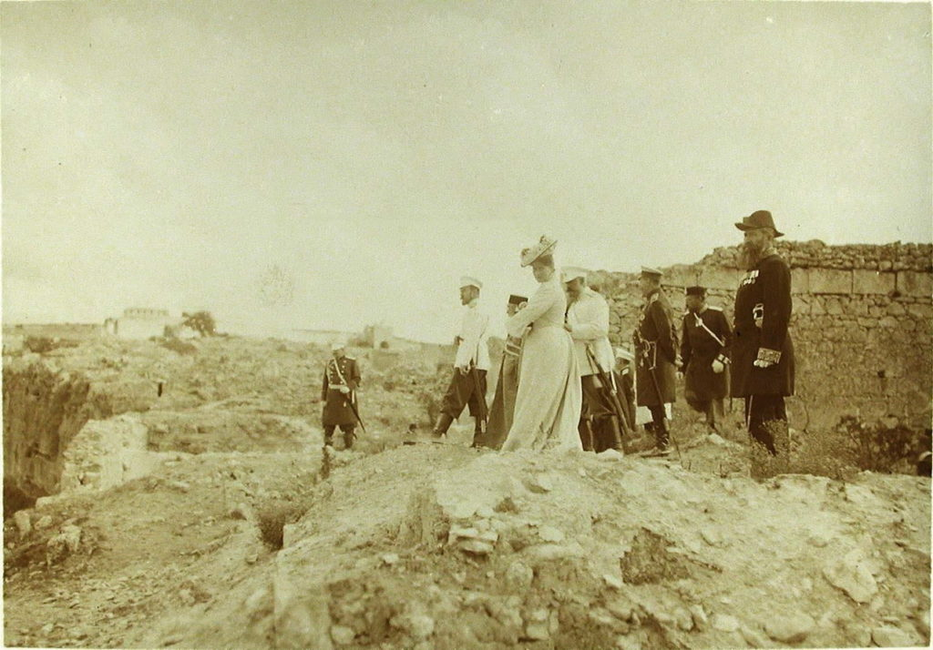 Emperor Nicholas II, Empress Alexandra Feodorovna, Grand Duchess Olga Nikolayevna in Sevastopol.