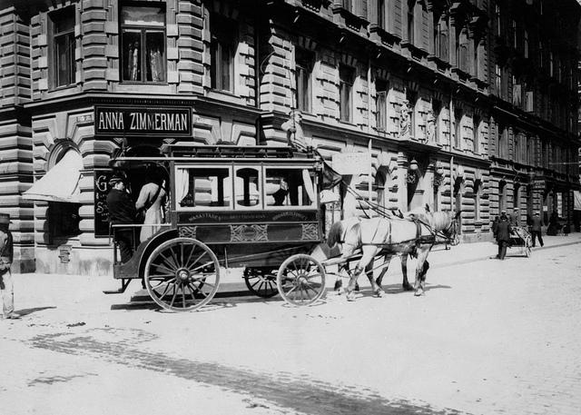 Horse bus in Stockholm 1902