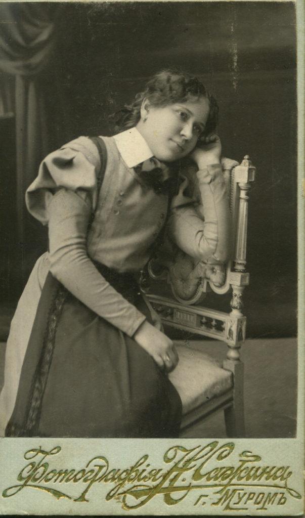 Murom, Portrait of the schoolgirl Grani Tyurnikova. 1910-1911.