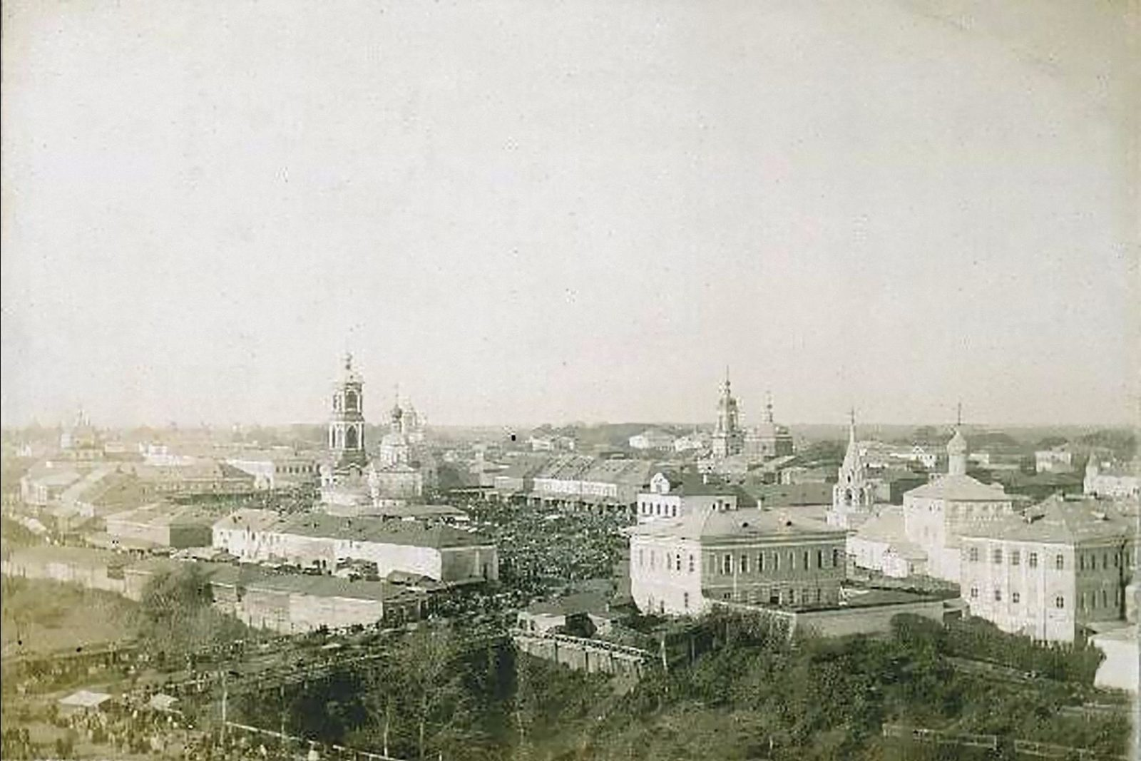 Murom, View of the market square. Vladimir Province, Russia