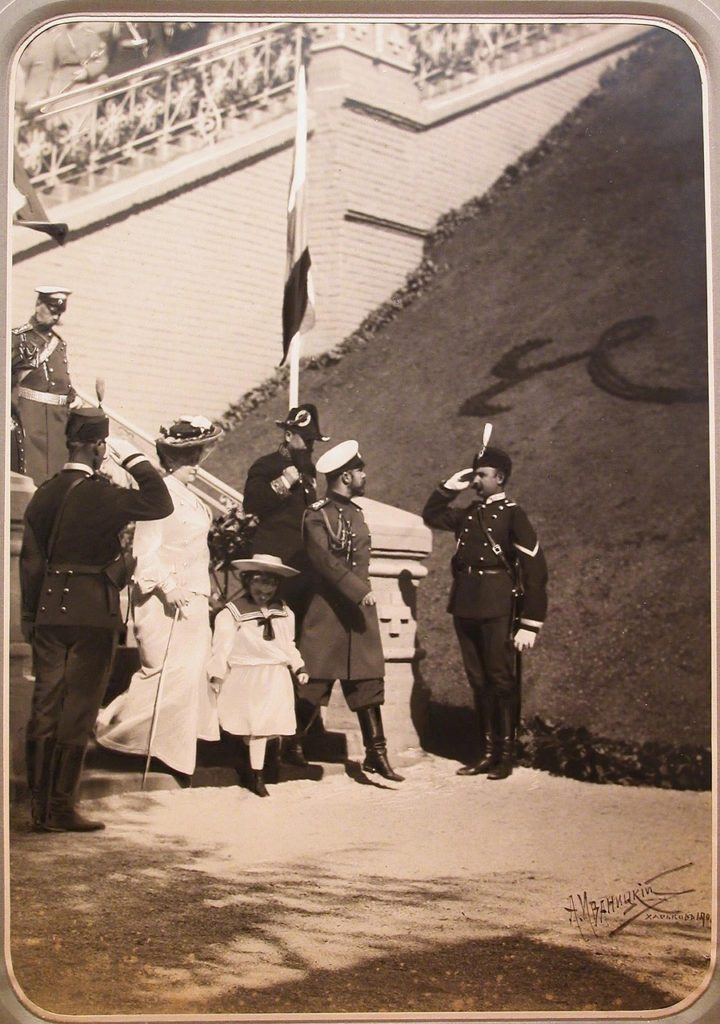 Nicholas II and Alexandra Fedorovna in Kharkov. 1902