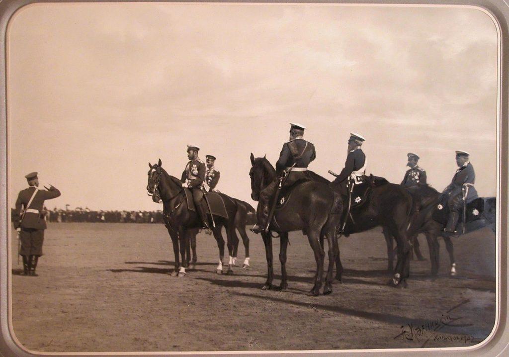 Nicholas II and Alexandra Fedorovna in Kharkov. 1902