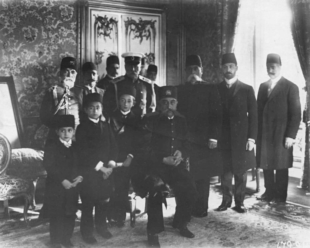 Persian Shah Mozafar ed-din in Russia. 1902