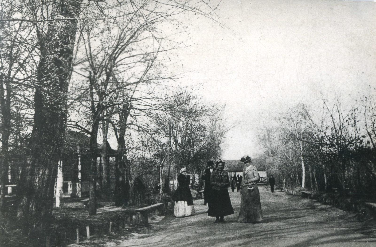 Street scene. Boulevard. Murom, Vladimir Province, Russia