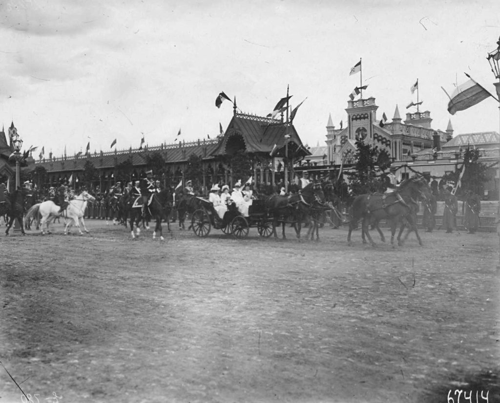 Italian King Victor Emmanuel III in Russia. Empress carriage.