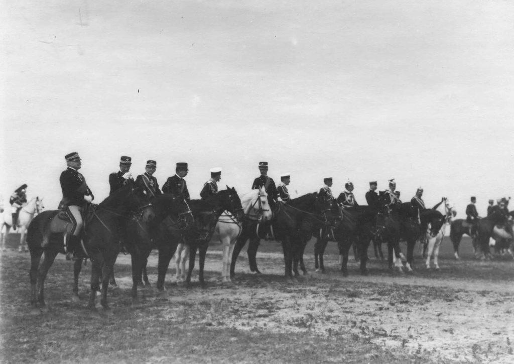 Italian King Victor Emmanuel III in Russia, 1902.