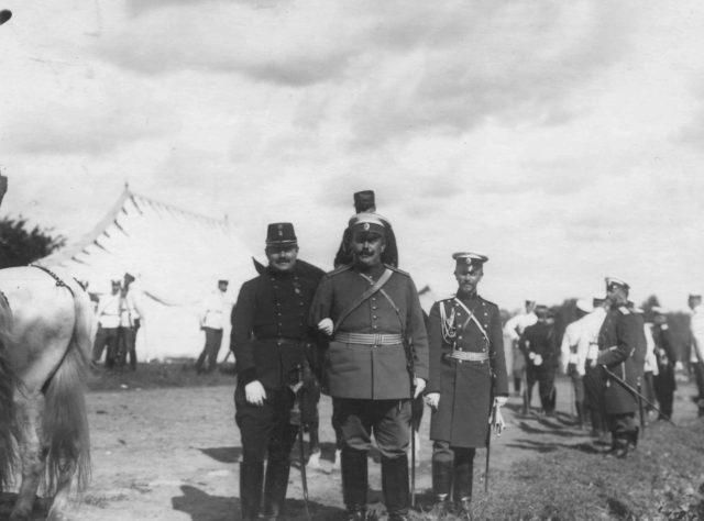 Russian and Italian military. Visit of the Italian King Victor Emmanuel III to Russia, 1902.