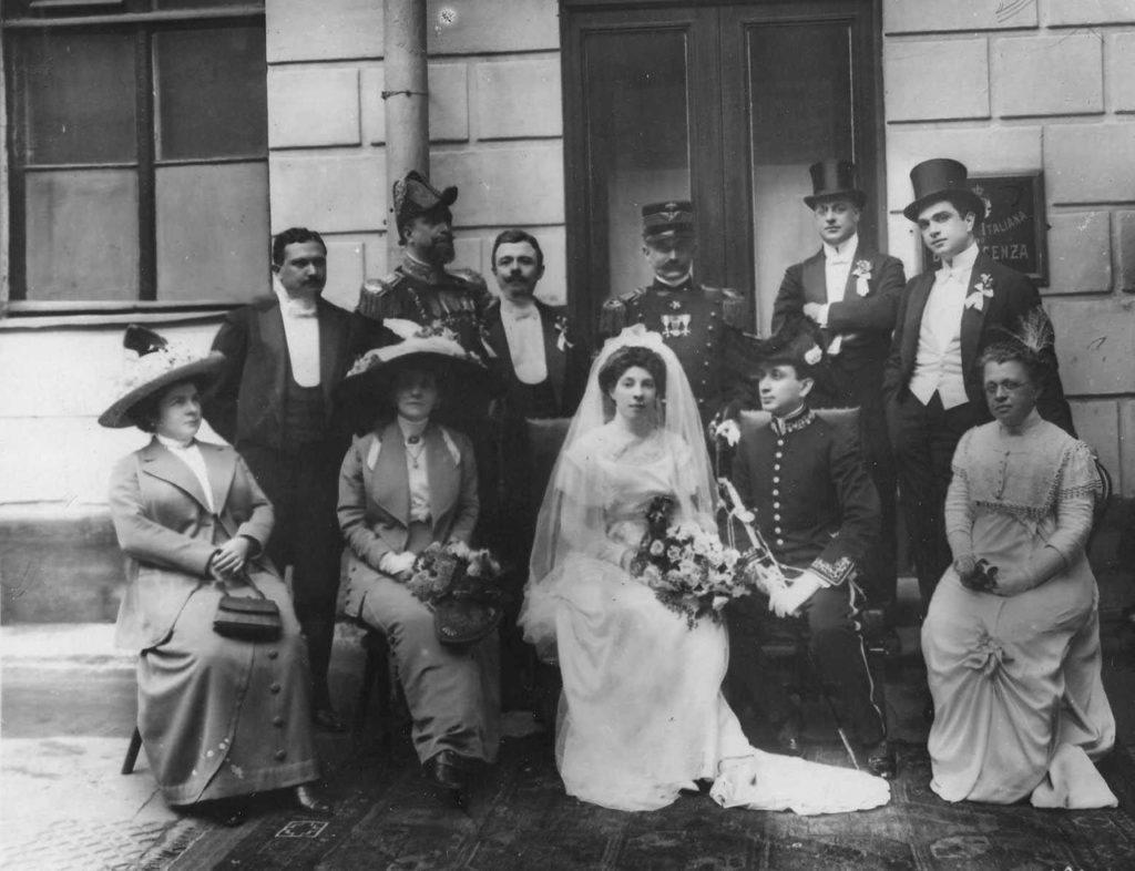 Italian embassy. Visit of the Italian King Victor Emmanuel III to Russia, 1902.