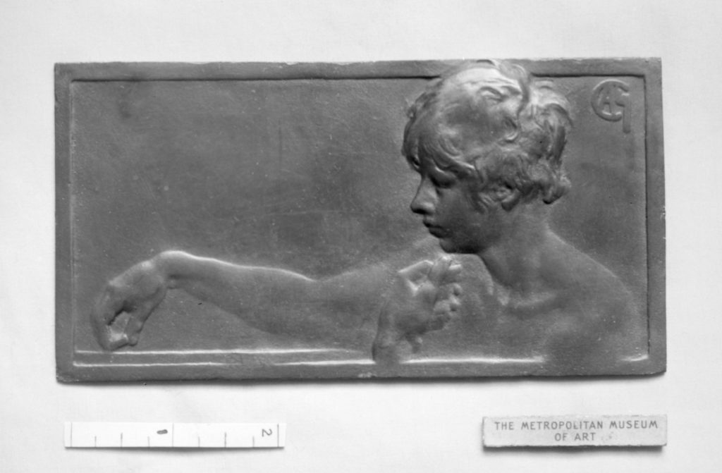 Nude bust of boy playing dominoes (Les Dominos)