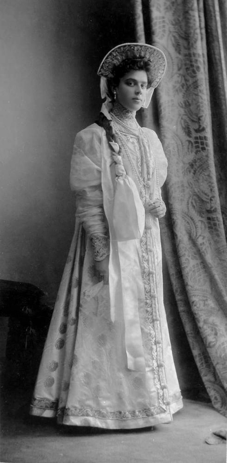 Countess Vera Sergeevna Witte in the costume of the boyarynya of the XVII century.