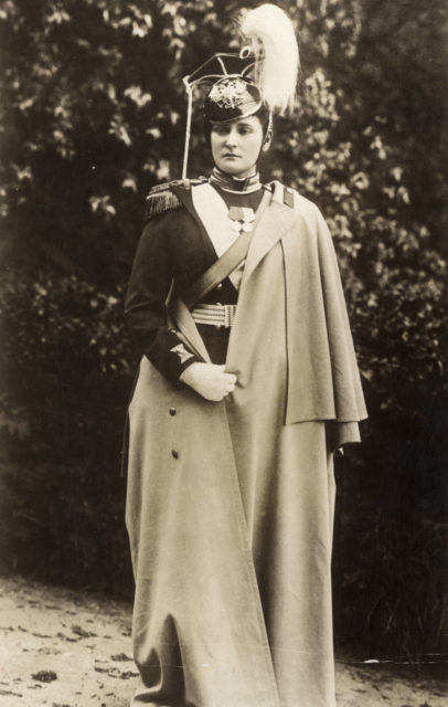 Empress Alexandra Feodorovna in milirary uniform